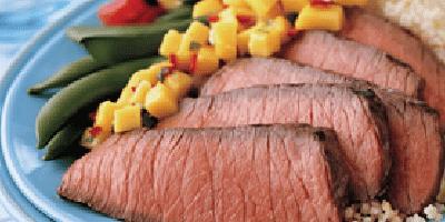BBQ Steak and Mango