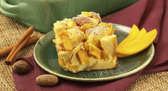 Brandied Mango Bread Pudding
