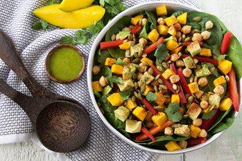 Mango and Chickpea Salad with Cilantro Lime Vinaigrette