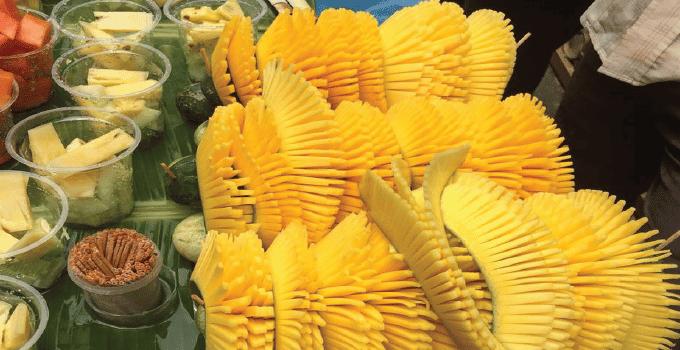 Sliced Mangos in Supermarket