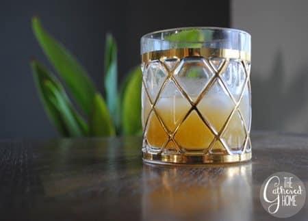 Glass of Mango Whiskey Smash