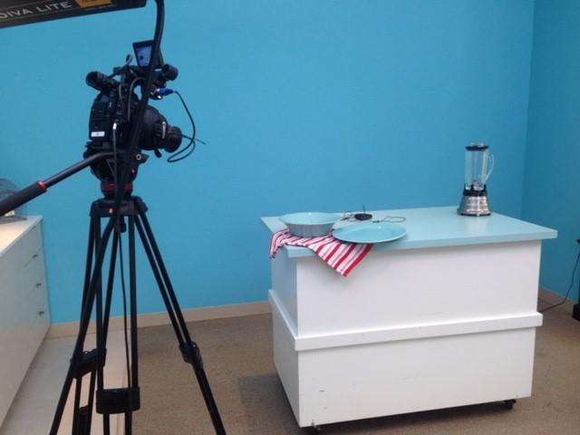 Camera on Kitchen Film Set
