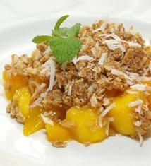 Mango Coconut Crisp