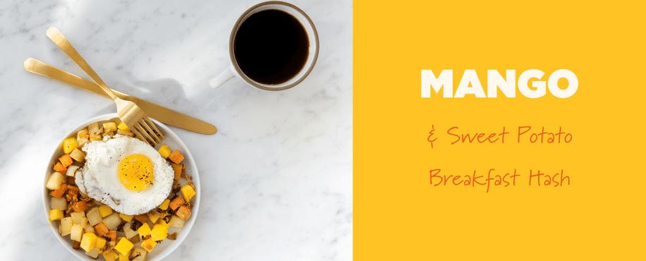 Mango & Sweet Potato Breakfast Hash