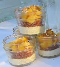 Fresh Mango Mason Jar Parfait