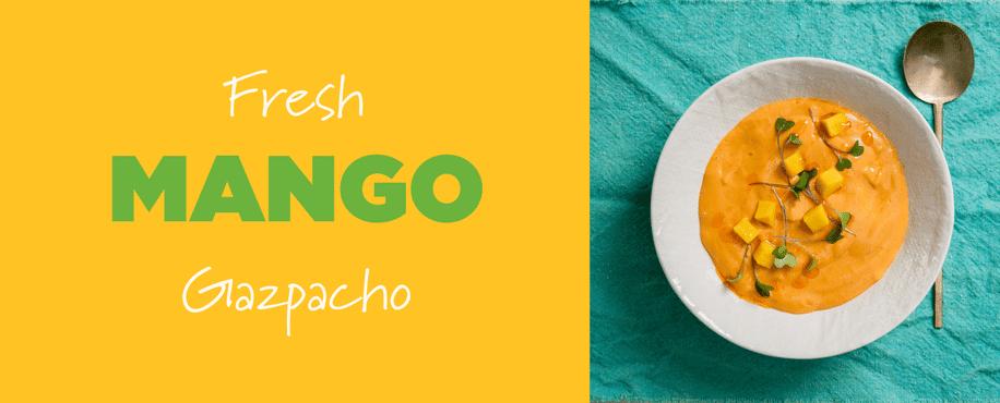 Fresh Mango Gazpacho