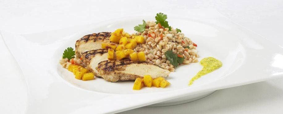 Jerk Chicken with Mango Quinoa