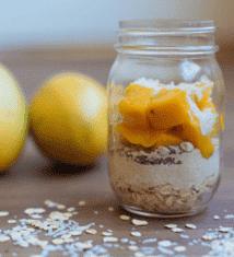 Mango and Oat Breakfast Jars