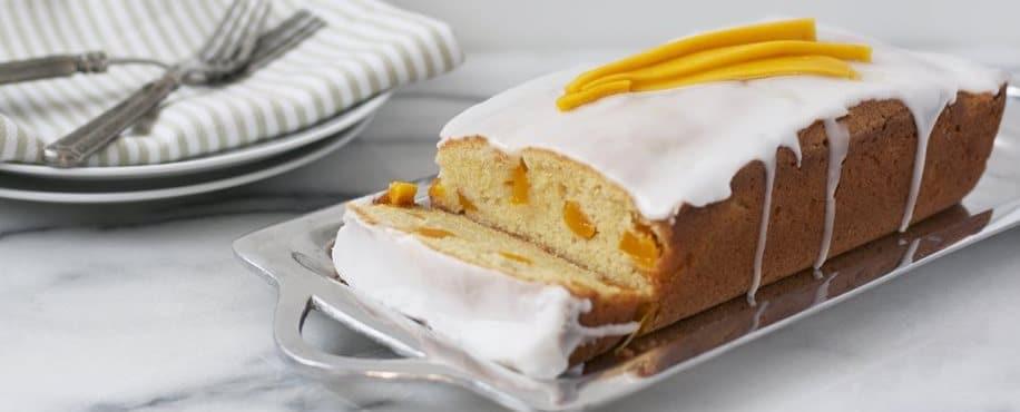 Mango Cake with Coconut Glaze