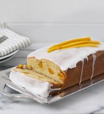 Mango Cake with Coconut Glaze