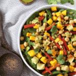 Mango Chickpea Salad with Cilantro-Lime Vinaigrette
