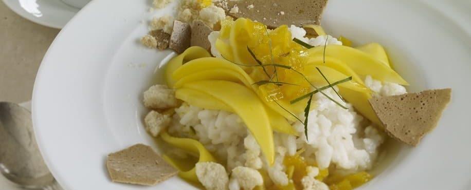 Mango Coconut Dessert Risotto