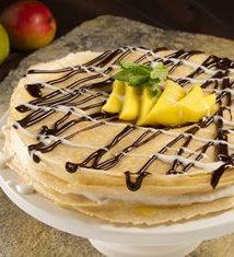 Mango Curd Crepe Cake