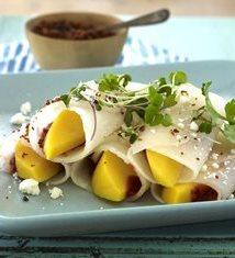 Mango Jicama Enchiladas