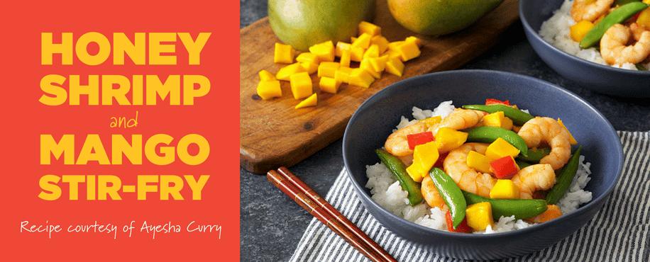 Ayesha Curry's Honey Shrimp and Mango Stir-Fry
