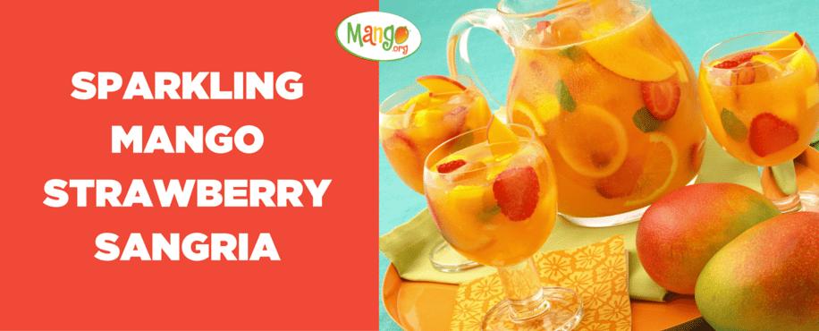 Sparkling Mango Strawberry Sangria