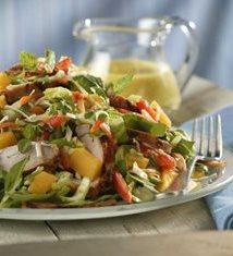 Thai Pork and Mango Salad with Mango-Mint Dressing