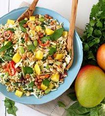 Crunchy Ramen Noodle Salad with Mango