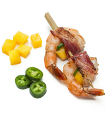 Bacon Wrapped Mango Shrimp