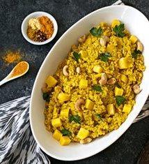 Mango and Turmeric Brown Rice