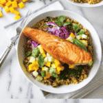 Salmon, Mango and Curry Quinoa Bowl