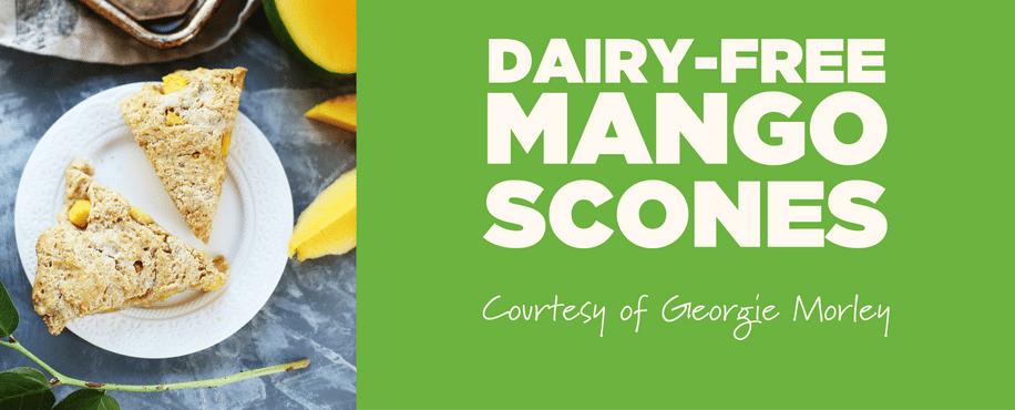 Dairy-Free Mango Scones
