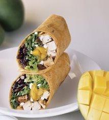Caribbean Mango Chutney Chicken Wrap