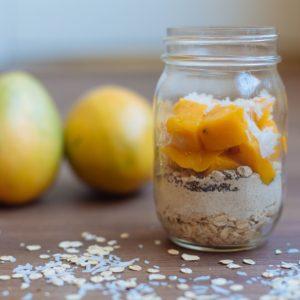 Mango and Oat Breakfast Bars