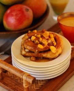 Mango Macademia Caramel Rolls