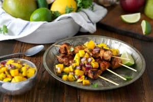 Jerk Chicken Skewer with Mango Salsa