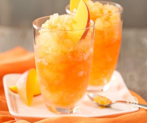 Mango Slushee with Sliced Mangos