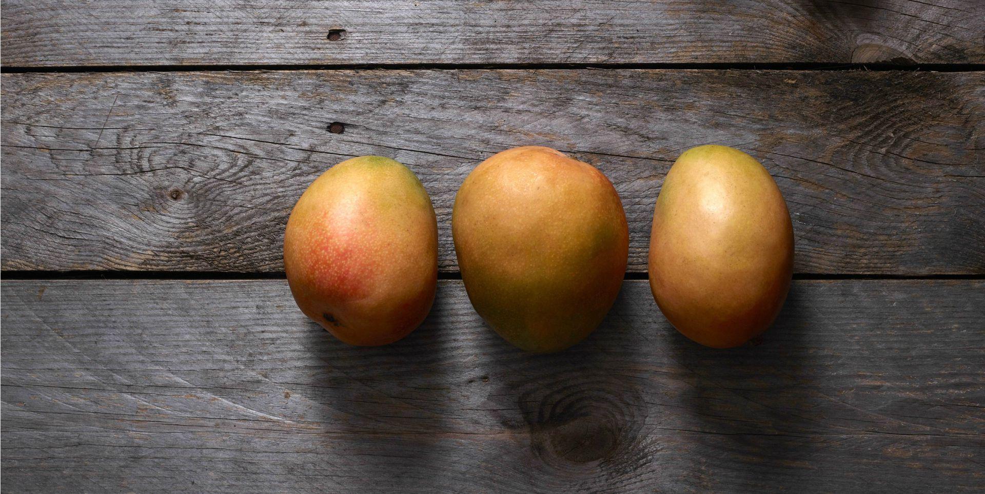Three Haden Mangos