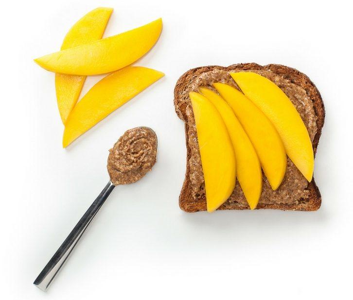 Mango Almond Butter Toast