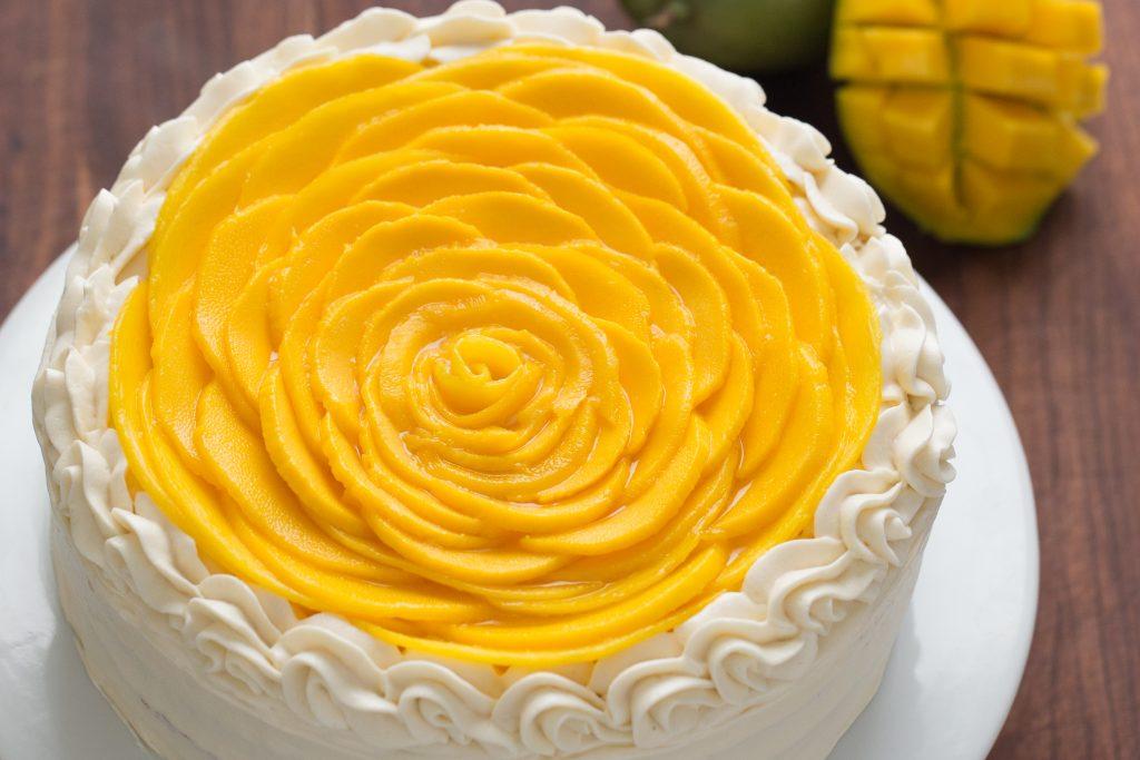 Mango Rose Cake