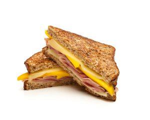 Grilled Ham Cheese Mango Sandwich