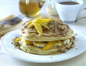 Stack of Mango Pancakes