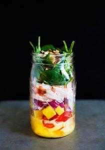Mason Jar Shrimp Salad with Mango