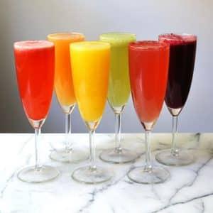Rainbow Prosecco Fruit Purees