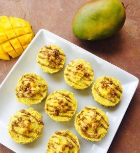 Mango Cheesecake Bites
