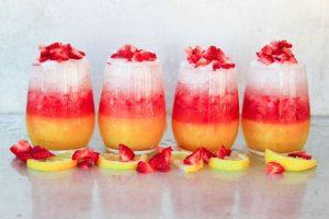 Four Strawberry Mango Vodka Lemonades