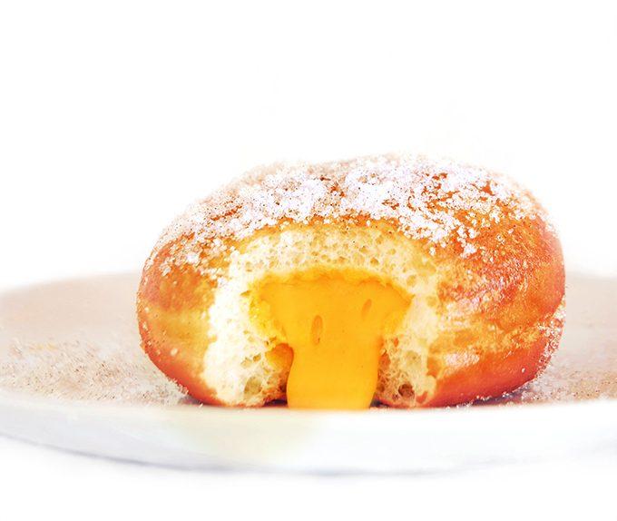 Mango Doughnut with Cream Filling