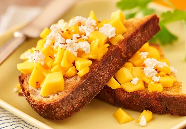 Mango and Feta Cheese Toast