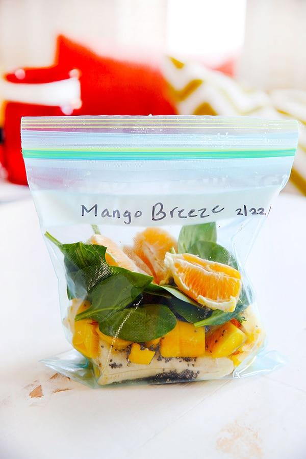 Mango Smoothie Pack Meal Prep