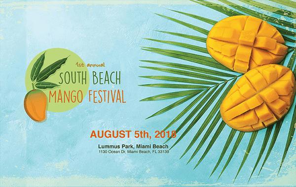 diversión de verano con mango South Beach