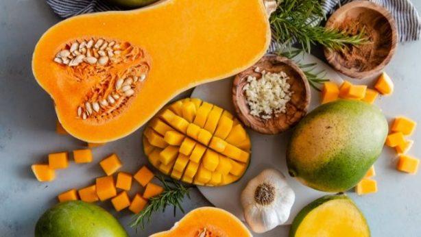 Fall - Mangos and Butternut Squash