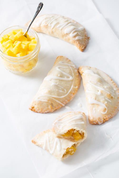 No-fry mango hand pies for Halloween