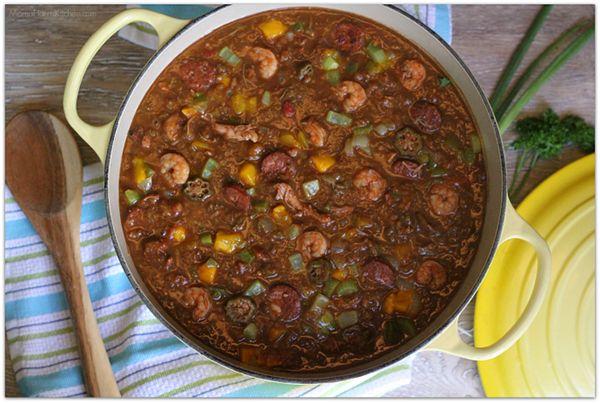 National Seafood Month - Shrimp & Mango Gumbo