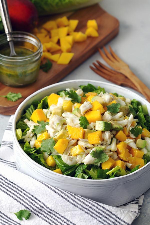National Seafood Month - Mango, Crab & Avocado Salad
