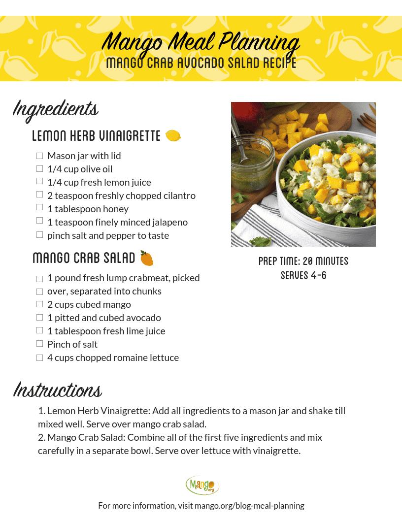 Mango Crab Avocado Salad Recipe
