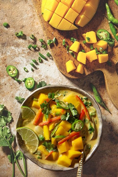 Soup Recipes - Mango Coconut Curry Soup
